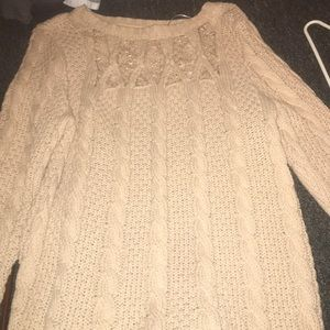 Sweater with lace front